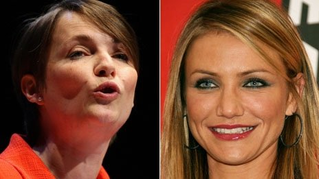 Kirsty Williams and Cameron Diaz