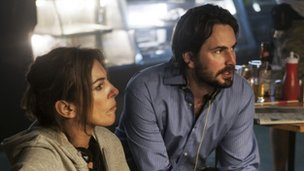 Kathryn Bigelow with Zero Dark Thirty screenwriter Mark Boal