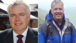 Carwyn Jones and Derek Brockway