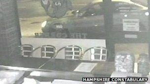 CCTV footage of Mercedes car on Shirley High Street