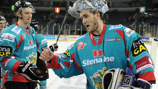 Belfast Giants netminder Garrett Zemlak