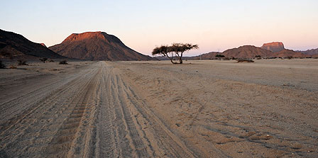 Desert near Tamanrasset in Algeria