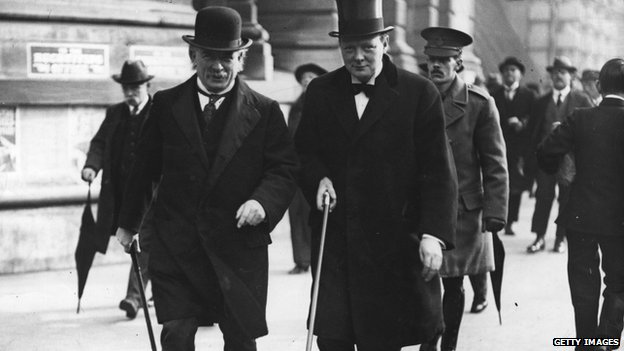 Lloyd George and Winston Churchill, 1915
