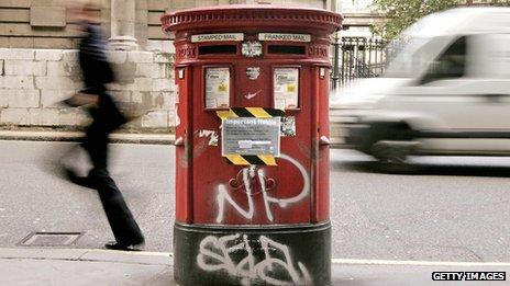 Vandalised postbox