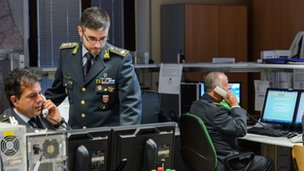 The head of the operations, Italian lieutenant colonel Davide Cardia of the Guardia di Finanzia