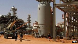 Gas infrastructure at In Amenas, eastern Algeria (undated image)