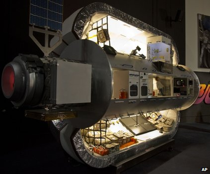 Scale model of the inflatable space station