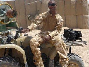 Matthew Ramdeen in Afghanistan