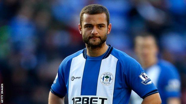 Wigan Athletic midfielder Shaun Maloney