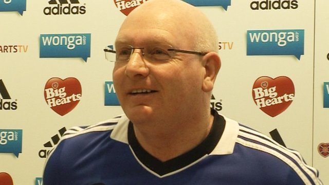 Heart of Midlothian manager John McGlynn