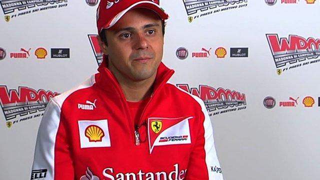 Ferrarri driver Felipe Massa
