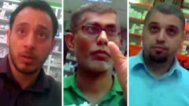 Hussain Jamal Rasool, Murtaza Gulamhusein and Chawan Shaida