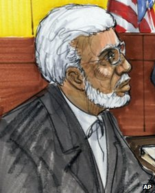 Tahawwur Rana appears in a Chicago court 7 June 2011