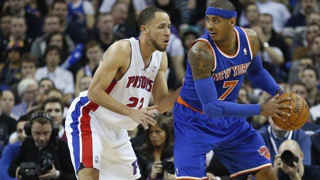 New York Knicks basketball player Carmelo Anthony