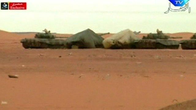 Tanks in the desert