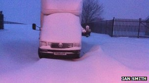 Ian Smith's photoof snow in Dowlais, Merthyr Tydfil