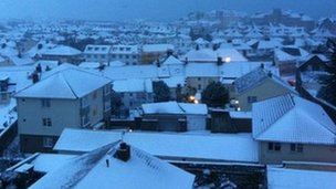 Snow in St Helier