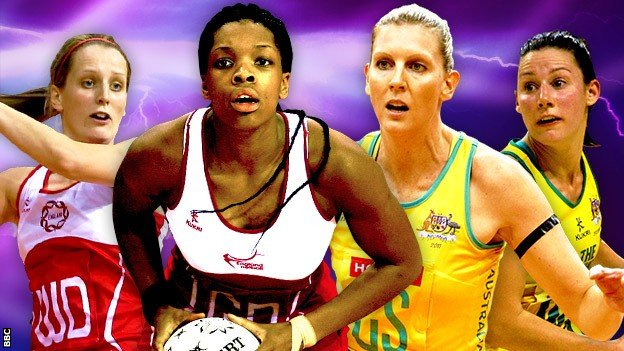 Netball players for England and Australia