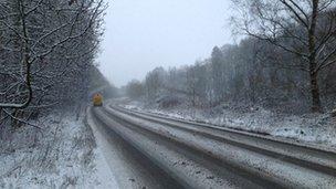 A49 near Marshbrook