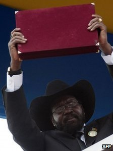 South Sudan's President Salva Kiir 9 July 2011