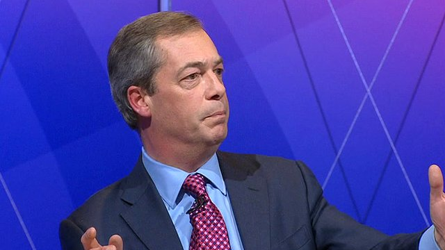 Leader of the UK Independence Party Nigel Farage