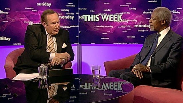 Andrew Neil and Kofi Annan