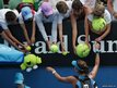 Germany's Julia Goerges signs autographs