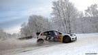 French driver Sebastien Ogier steers his VW Polo