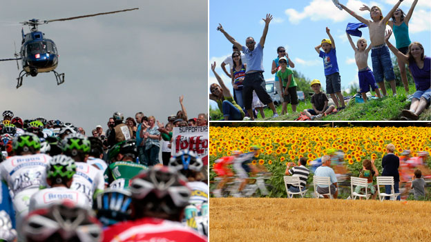 Fans of the Tour de France