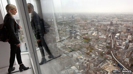 Shard interior with view