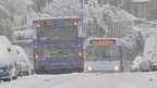 Two stuck buses
