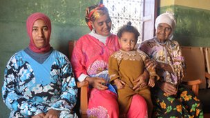 Four generations of one family in the Atlas Mountains, Morocco. Photo by Lily Al-Tai