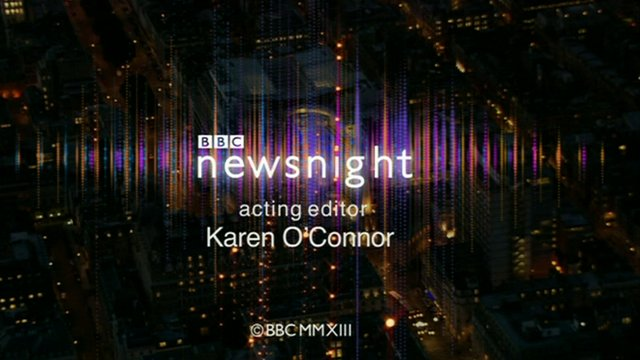 Newsnight end credit