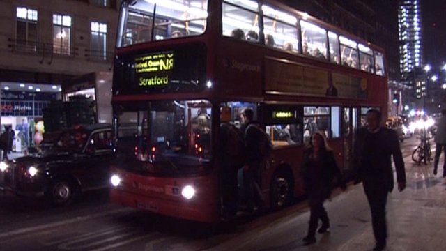 London Buses at Night London Night Bus Crime Rise