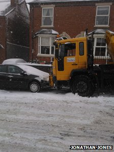Gritting truck hits car in Halesowen