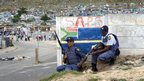 Two policemen in Villiersdorp, South Africa - Monday 14 January 2013
