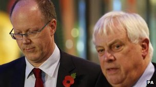 Lord Patten and George Entwistle