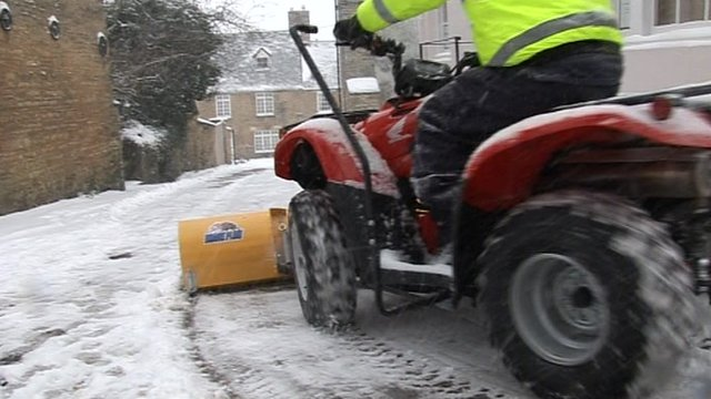 Ploughing snow in Oxfordshire
