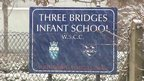 Three Bridges Infant School sign