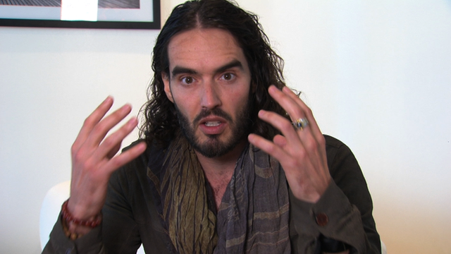 British comedian and West Ham fan Russell Brand
