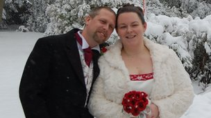 Newlyweds Richard and Carly Smith