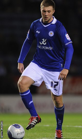 Johnson in action for Leicester