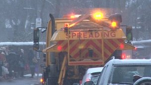 Gritting lorry in Sheffield