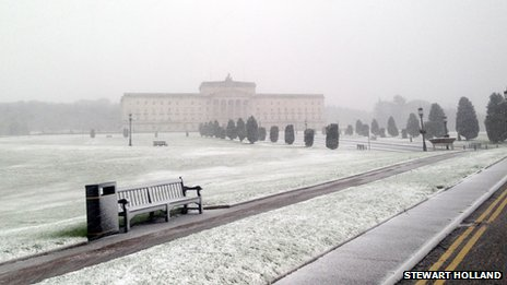 Snow at Stormont
