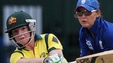 Australia's Jess Cameron and England's Sarah Taylor