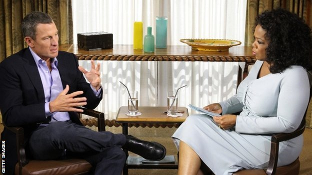 Lance Armstrong and Oprah Winfrey