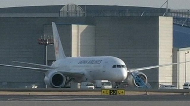 Grounded Japan Airlines 787 Dreamliner