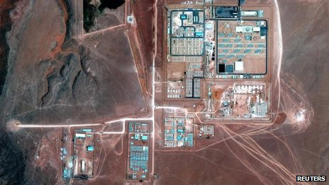 Satellite image of the In Amenas gas plant