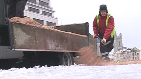 Gritting in Cardiff