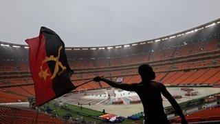 An Angolan fan